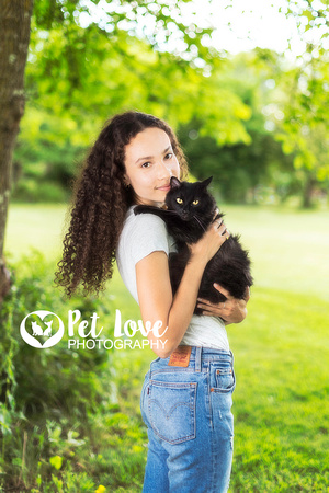 A Girl and Her Cat | West Chester Pet Photographer